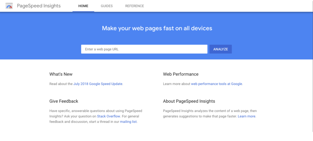 Googles page speed insights help website owners and developers with the items that will make their website faster