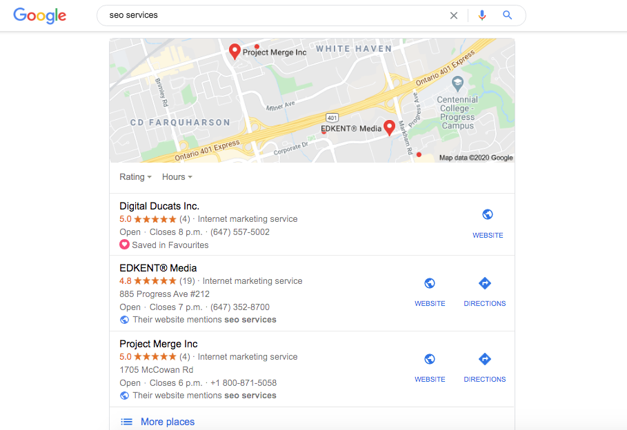 Build local links to rank highly in Google's local finder