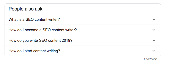 PAA box for SEO content writing