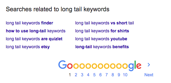 Use the searches related to section for additional keyword research