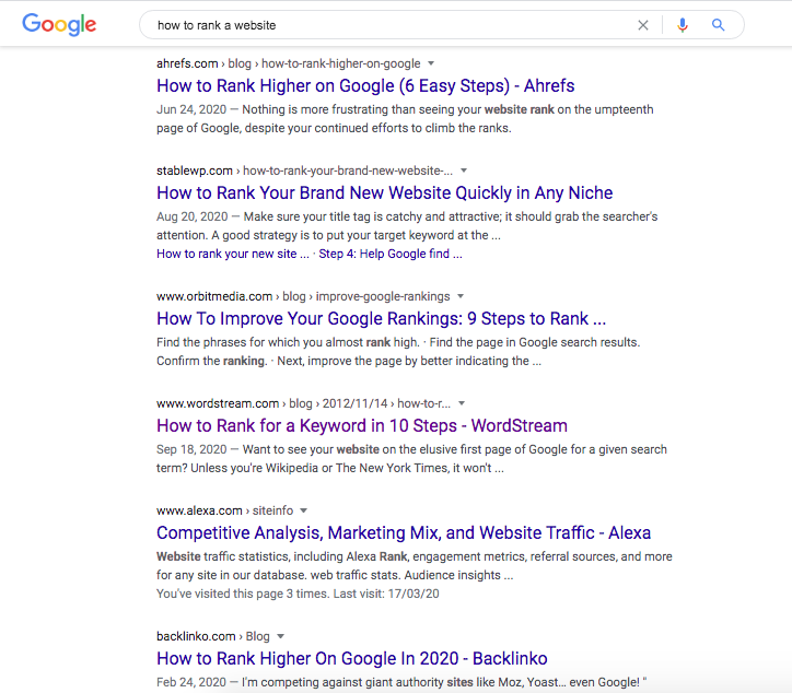 SEO basics dictate to analyze the SERP for clues that establish search intent
