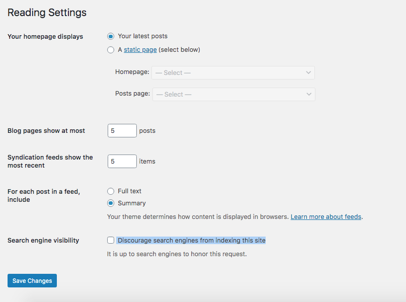 Check to see your WordPress settings are not set to noindex