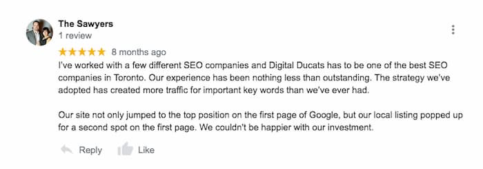 5 Star Google reviews are one indication of a good SEO agency
