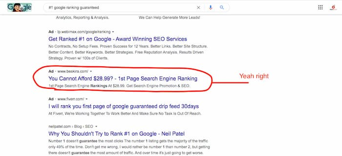There are no such thing as cheap SEO services-they are one of the SEO myths to avoid falling for when choosing a an SEO company